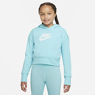 Nike Sportswear Club Sudadera con capucha corta de tejido French terry - Niña