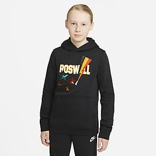 Nike Sportswear Club Fleece Sudadera con capucha sin cierre para niño talla grande