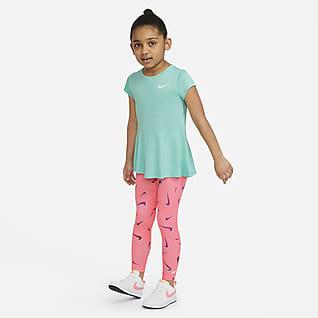 Nike Conjunto de prenda para la parte superior y leggings Swoosh para niños talla pequeña