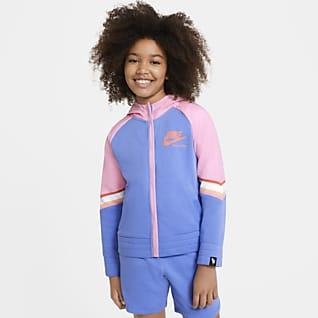 Nike Sportswear Heritage เสื้อมีฮู้ดซิปยาวเด็กโต (หญิง)