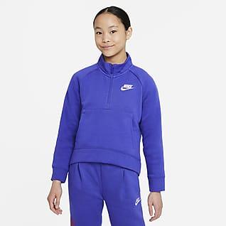 Nike Sportswear Club Fleece Big Kids' (Girls') 1/2-Zip Pullover