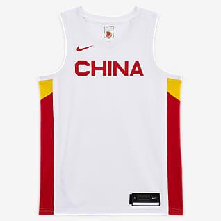 China (Thuis) Nike Basketbaljersey voor heren