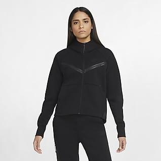 Nike Sportswear Tech Fleece Windrunner Hættetrøje med lynlås til kvinder
