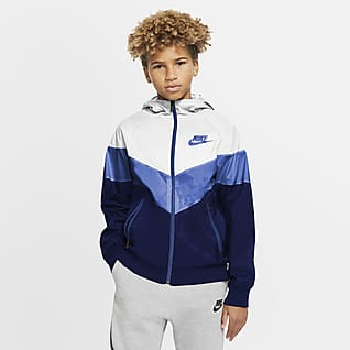 Nike Sportswear Windrunner Chamarra para niños talla grande