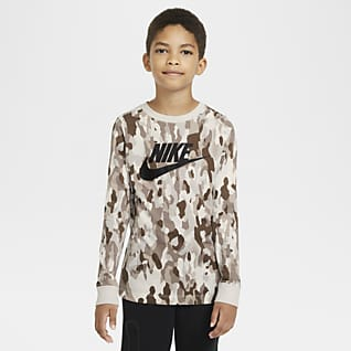 Nike Sportswear Older Kids' (Boys') Printed Long-Sleeve T-Shirt