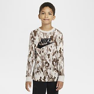 Nike Sportswear T-shirt z długim rękawem i nadrukiem dla dużych dzieci (chłopców)