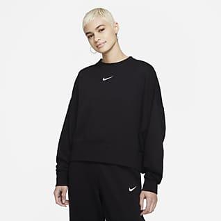 Nike Sportswear Collection Essentials Extragroßes Fleece-Rundhalsshirt für Damen