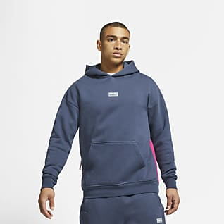 Nike F.C. Sudadera de fútbol con capucha y sin cierre de tejido Fleece para hombre