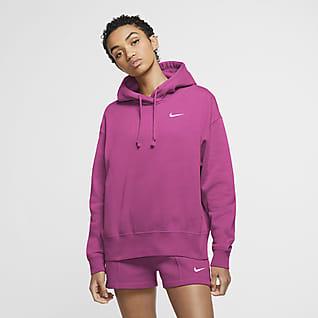 Nike Sportswear Γυναικεία φλις μπλούζα με κουκούλα