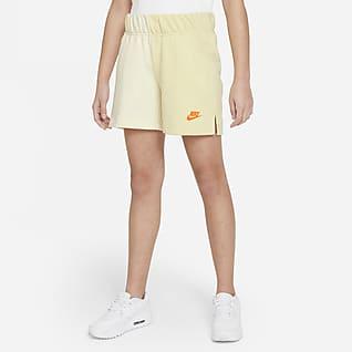 Nike Sportswear Kraťasy zfrancouzského froté pro větší děti (dívky)