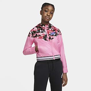 Nike Sportswear Windrunner Big Kids' (Girls') Graphic Jacket
