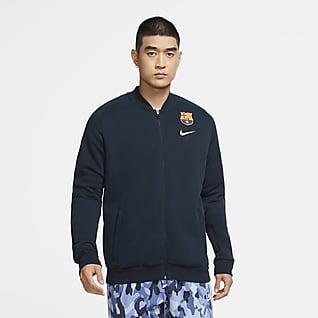F.C. Barcelona Men's Fleece Football Tracksuit Jacket