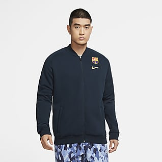 FC Barcelona Track jacket da calcio in fleece - Uomo
