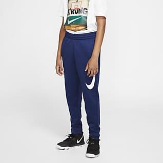 Nike Therma Pantalones de básquetbol para niño talla grande