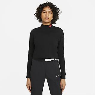 Nike Sportswear Женская футболка с длинным рукавом и воротником-стойкой