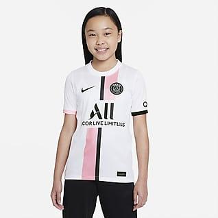 Εκτός έδρας Παρί Σεν Ζερμέν 2021/22 Stadium Ποδοσφαιρική φανέλα Nike Dri-FIT για μεγάλα παιδιά