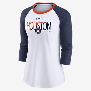 Nike Color Split (MLB Houston Astros) Women's 3/4-Sleeve T-Shirt