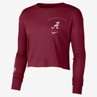 Nike College (Alabama) Women's Long-Sleeve Crop Sweatshirt