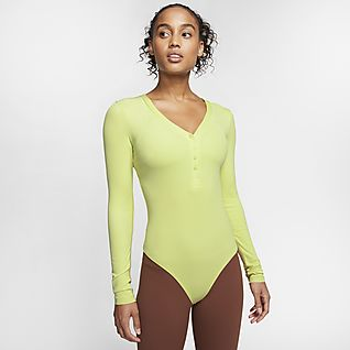 Nike Yoga Luxe Damskie body z długim rękawem Infinalon