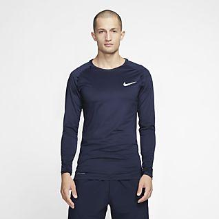 Nike Pro 男子长袖训练紧身上衣