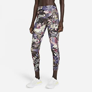 Nike Epic Fast Femme 7/8-Lauf-Leggings mit halbhohem Bund für Damen