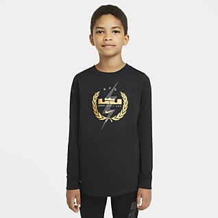 Nike Dri-FIT LeBron Big Kids' (Boys') Long-Sleeve Training T-Shirt