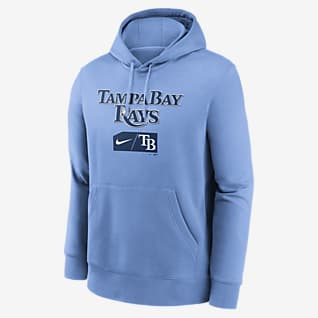 Nike Lettering Club (MLB Tampa Bay Rays) Men's Pullover Hoodie