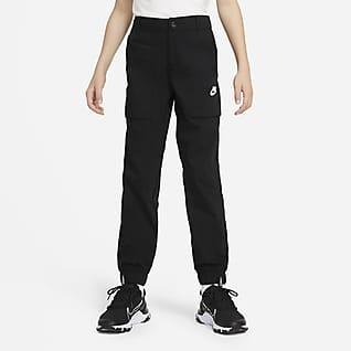 Nike Sportswear Pantalones cargo de tejido Woven para niños talla grande