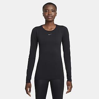 Nike Dri-FIT ADV Aura Женская футболка для тренинга с длинным рукавом и плотной посадкой