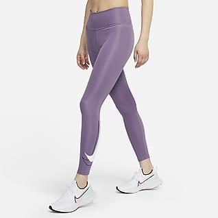 Nike Dri-FIT Swoosh Run เลกกิ้งวิ่งเอวปานกลาง 7/8 ส่วนผู้หญิง