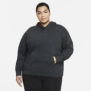 Nike Sportswear Sudadera con gorro lavada para mujer (talla grande)