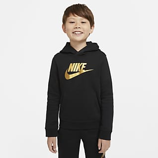 Nike Sportswear Club Fleece Pullover-hættetrøje til store børn