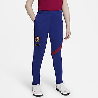 FC Barcelona Academy Pro Spodnie piłkarskie dla dużych dzieci Nike Dri-FIT
