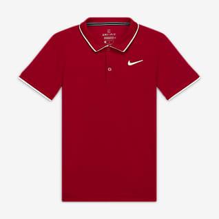 NikeCourt Dri-FIT Galléros teniszpóló nagyobb gyerekeknek (fiúk)