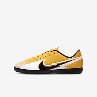 Nike Jr. Mercurial Vapor 13 Academy IC Sapatilhas de futsal para criança/Júnior