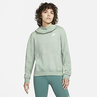 Nike Sportswear Sudadera con capucha de tejido Fleece y cuello en embudo para mujer