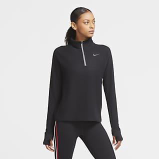 Nike Sphere Top de running de medio cierre para mujer