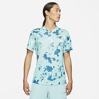 NikeCourt Dri-FIT Victory Мужская теннисная футболка с принтом