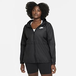 Nike Sportswear Chamarra de tejido Woven para mujer (talla grande)