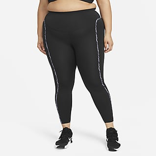 Nike One Luxe Icon Clash Leggings (Plus size) - Donna