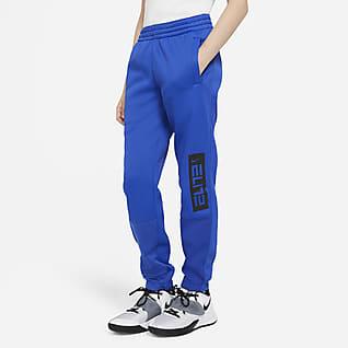 Nike Therma Elite Pantalones de básquetbol para niño talla grande