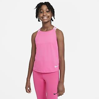Nike Dri-FIT Koszulka treningowa bez rękawów dla dużych dzieci (dziewcząt)
