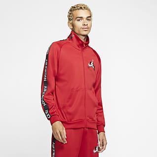 Jordan Jumpman Classics Мужская куртка для разминки из ткани трико