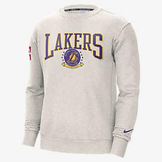 Los Angeles Lakers Courtside Sudadera de cuello redondo Nike NBA de tejido Fleece para hombre