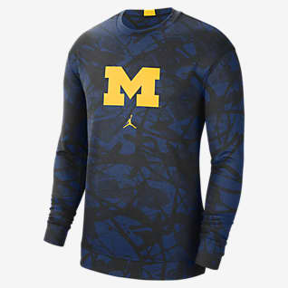 Jordan College Dri-FIT Spotlight (Michigan) Men's Long-Sleeve Top