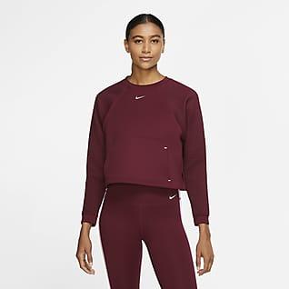 Nike Pro Fleece-Rundhalsshirt für Damen