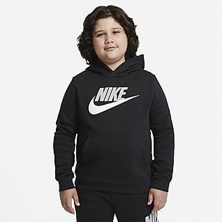 Flísová mikina Nike Sportswear Club Mikina s kapucí pro větší děti (chlapce) (rozšířená velikost)