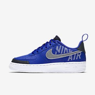 Blue Air Force 1 Shoes.