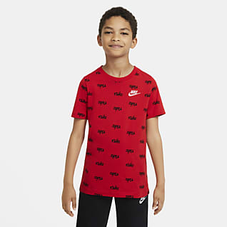 Nike Sportswear Script Big Kids' (Boys') Printed T-Shirt