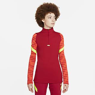 Nike Dri-FIT Strike Γυναικεία ποδοσφαιρική μπλούζα προπόνησης με φερμουάρ στο 1/4 του μήκους